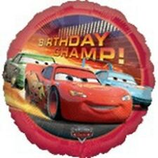 "17"" Disney Cars Movie Champ Happy Birthday Mylar Foil Balloon"