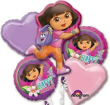 Five Balloon Dora The Explorer Birthday Balloon Bouquet