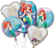 Little Mermaid Birthday Bouquet Mylar Foil Balloons