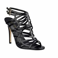 New Guess Women's Harlen Black Strappy Patent High-Heel Open-toe Sandals Sz 9