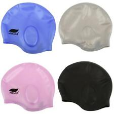 Silicone Adult Waterproof Swimming Pool Bath Cap Hat One Size Fits All -4 Colors