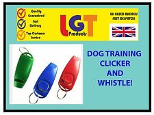 MULTI CLICKER WHISTLE EASY DOG PUPPY TRAINING Obedience Agility Keyring FREE P+P