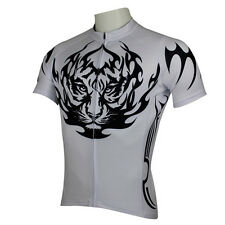 Men Tiger Short Sleeve Cycling Jersey Bicycle Bike Sportwear Rider Clothing D121