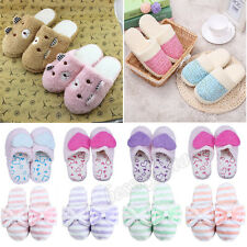 Women Men Soft Warm Fleece Indoor Antiskid Cotton Slippers Home Anti-slip Shoes