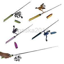 Portable Telescopic Pocket Fish Pen Fishing Rod Pole with Spinning Reel Wheel
