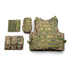 Tactical Military Airsoft 800D Vest Molle Plate Carrier Combat Assault Vest Camo