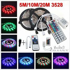 SMD3528 5M 10M 20M 300leds RGB/White Flexible Light Strip+IR Remote+Power Supply