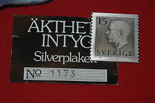 SLANIA SWEDEN RARE STERLING SILVER STAMP PROJECTED AND ENGRAVED BY SLANIA. 4