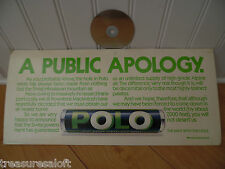 80s POLO MINT ADVERT, Vintage OLD TUBE TRAIN CARD, Retro ADVERTISING SWEETS SIGN