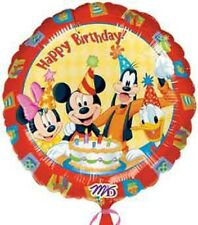"18"" Mickey and Friends Birthday Mylar Foil Balloon"