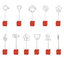 Red Cube Photo Memo Holder Name Place Card Picture Wire Clip Display Stand