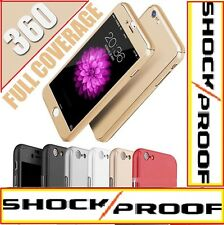 REAL HYBRID 360° HARD ULTRA THIN CASE + TEMPERED GLASS COVER FOR IPHONE 5 6 7 7+