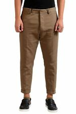 Dsquared2 Men's Brown Cropped Casual Pants Size 28 30 34 36