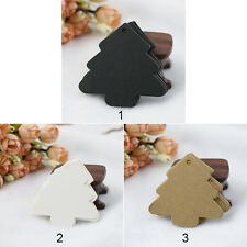 50pcs Kraft Paper Tags Christmas tree shape Wedding Party Gift Tags Cards OP