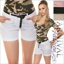 NEW BELT + SEXY DESIGNER HOTPANTS ladies SHORT PANTS online women's CASUAL WEAR