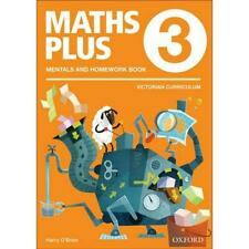 NEW Maths Plus VIC Aus Curriculum Edition Mentals & Homework Book 3 2016 by Harr