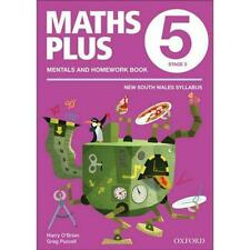 NEW Maths Plus NSW Aus Curriculum Ed Mentals & Homework Book 5 Revised Ed 2016 b