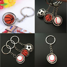 HOT Football Golf ball Baseball Basketball Keychain Key Ring Sport Souvenir US