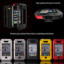For Apple iPhone Water/Shock/Dust Proof Gorilla Glass Aluminum Metal Case Cover