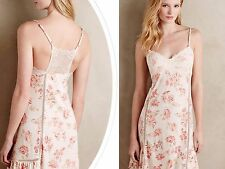 NWT Anthropologie Ardennes Chemise by Eloise, M, L, Lacey Back Floral Design