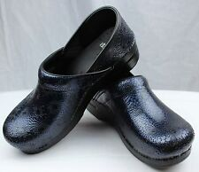Dansko Professional Navy Medallion Leather Clog Doctor/Nurses Shoes Slip-on