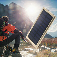 300000mAh Slim Solar Power Bank Backup Portable Battery Solar Charger 2in1 cable