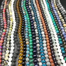 Wholesale Natural Stone Gemstone Round Spacer Loose Beads DIY 4MM 6MM 8MM 10MM