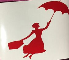 """Marry Poppins Vinyl Window Decal Sticker 4 3/4"""" Choose Your Color"""