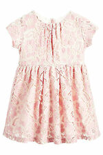 BNWT Next Girls' • Party Pink Embroidered Lace Dress • 100% cotton • 3-4 Years