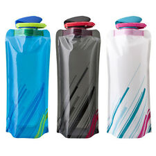 Portable Outdoor Sport Water Bottle Bag Camping Hiking 700mL Foldable Reusable