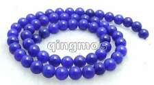 """SALE Small 6mm Round Blue jade gemstone beads strands 15""""-los599 Free shipping"""