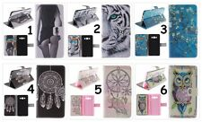 Hot Printing Card Wallet Leather Protective Case Cover For Samsung Galaxy Phones