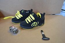 New in Box Heelys Clash Boys Youth Black / Yellow Shoes Style 7816
