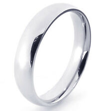 Vintage Stainless Steel Mens Womens Band Ring Silver Plated size7 8 9 10 Smooth