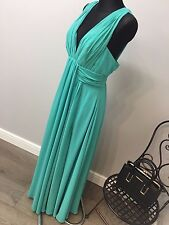Fame and Partners Valencia Pleated Maxi Dress With Wrap Front RRP £106 (AS-5/3)