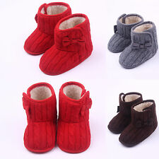 Infant Soft Sole Baby Snow Boots Winter Warm Toddler Fleece Knit Booties Shoes