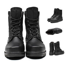 Men's Retro high-top Combat boots Winter England style fashionable short shoes