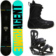 Rome Agent 149 Mens Snowboard + Rome United Bindings + M3 Boots