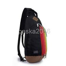 Rainbow Backpack Outdoor Shoulder Chest Bag 2 in 1 Strap Cross Body Pack Sling
