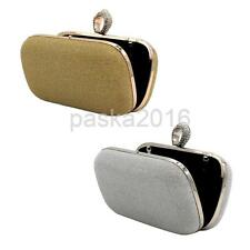 New Evening Party Cocktail Prom Clutch Purse Wallet Handbag Shoulder Chains Ring