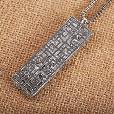 Hollow  Necklace  Fashion Crystal  Long chain Pendant  rectangle  Statement