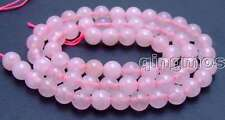 """SALE small 6mm Round Pink jade gemstone beads strands 15""""-los609 Free shipping"""