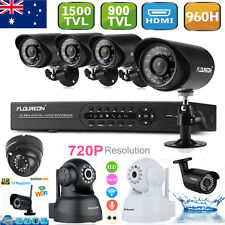 8CH HDMI DVR 900TVL/1500TVL 720P Network IP Camera Home Security CCTV System AU