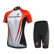 Mens Bike Kits Cycling Wear Mountain Bike Jersey & Cycling Shorts With Pad S-5XL