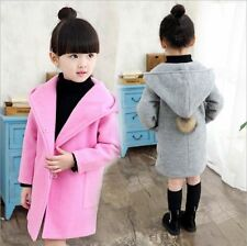 Toddler Korean Girls Spring Fall Outwear Models Woolen Coat Child Coat Jackets