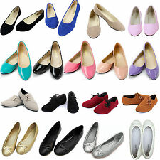 NEW Women Dolly Pumps Ballerina Ballet Slip On Flats Ladies Loafers Single Shoes