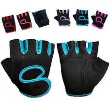 Neoprene Bike Bicycle Cycling Padded Gloves Weight Lifting Wheelchair Fingerless