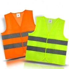 Hi Viz Cycling Vest Jacket High Visibility Reflective Gilet Top Coat Flourescent