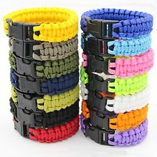Paracord 550 Survival Bracelet Camo Parachute Cord Rope Buckle Camping Gear Kits