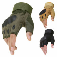 Tactical Army Military Half Finger Gloves Patrol Hard Padded Security Fingerless
